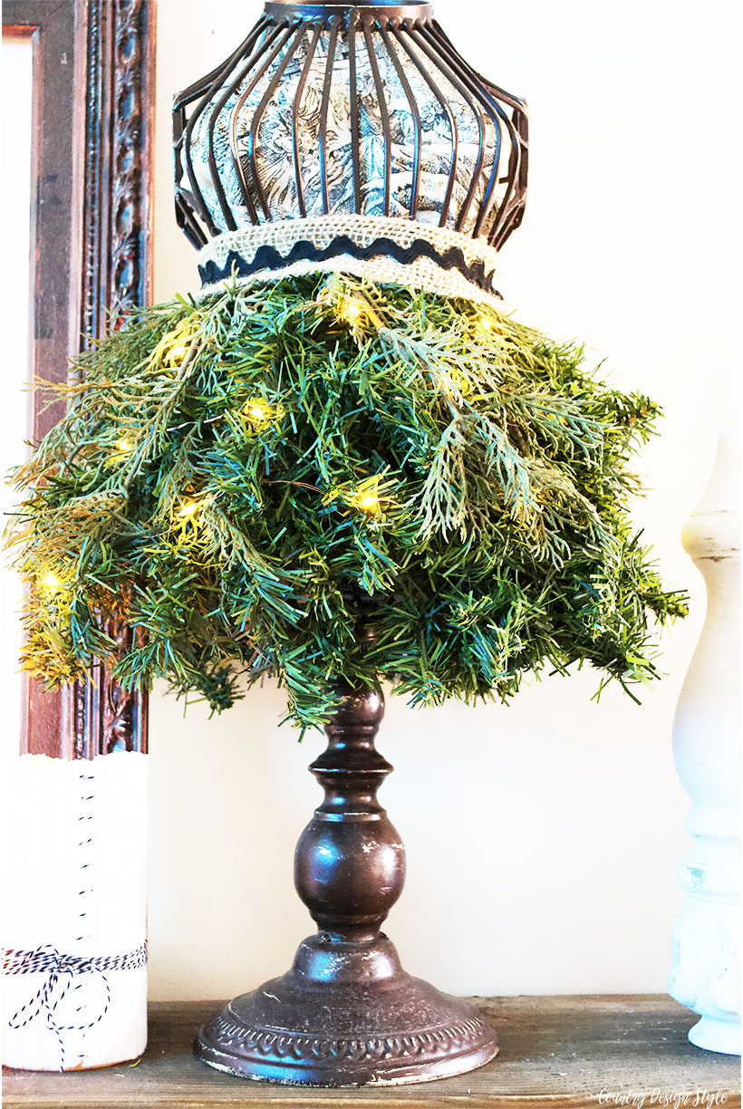 Christmas Tree Dress Form lights | Country Design Style | countrydesignstyle.com