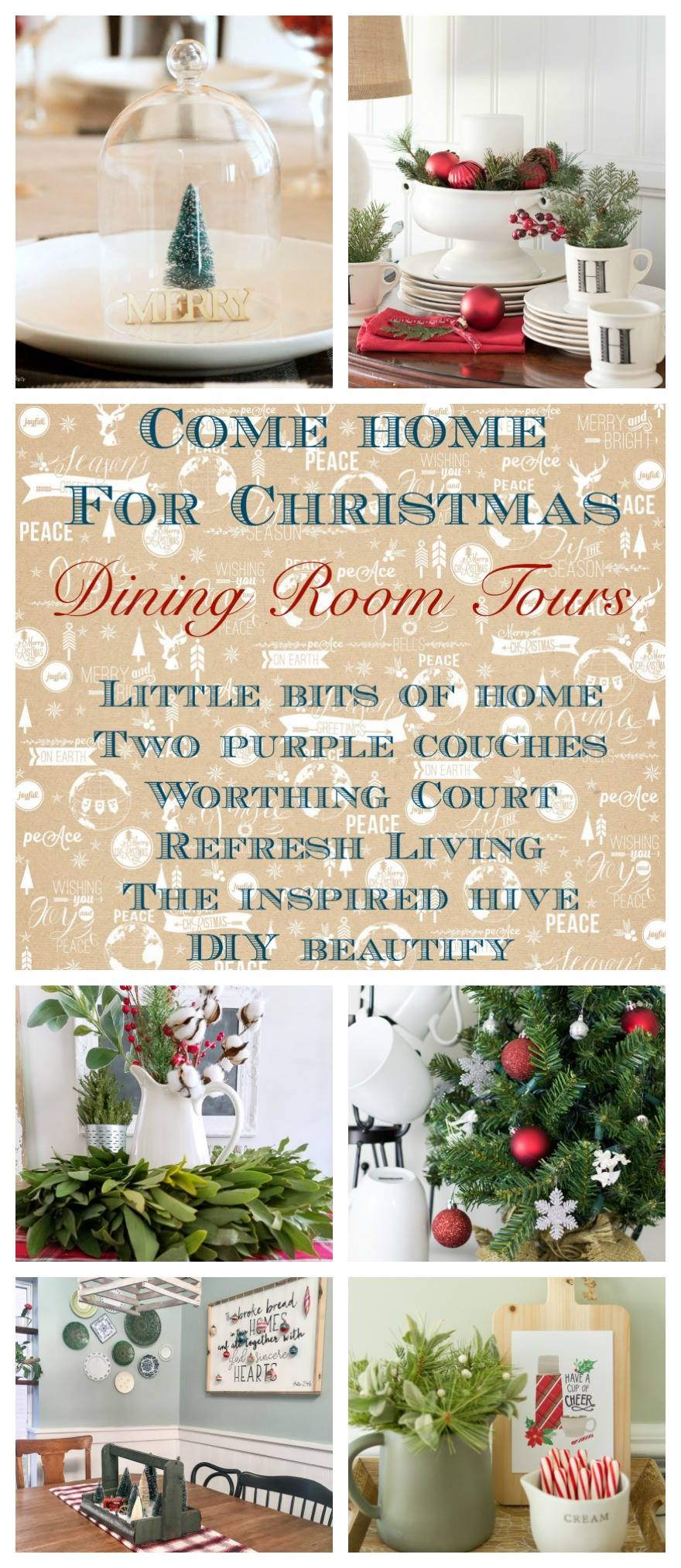 Come home for Christmas Dining Rooms