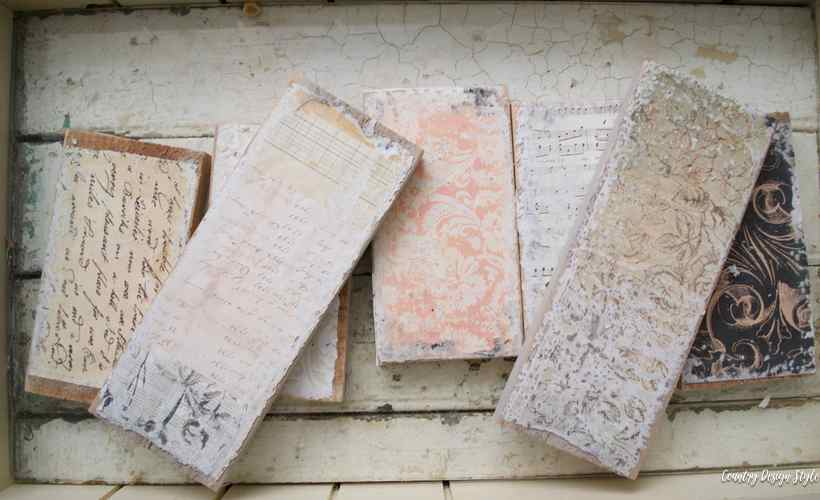 How to create a box paper covered wood | Country Design Style | countrydesignstyle.com