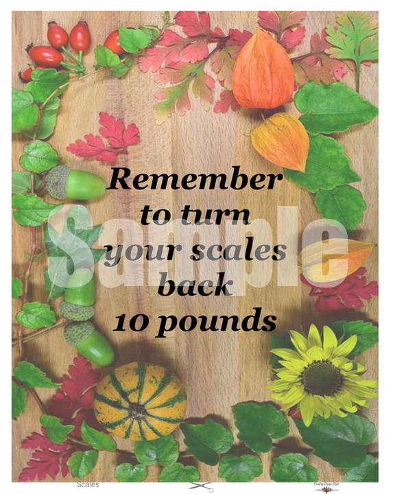 Funny Thanksgiving Printables Scales | Country Design Style | countrydesignstyle.com