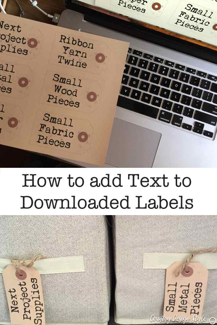 add text to downloaded labels pin 2 | Country Design Style | countrydesignstyle.com