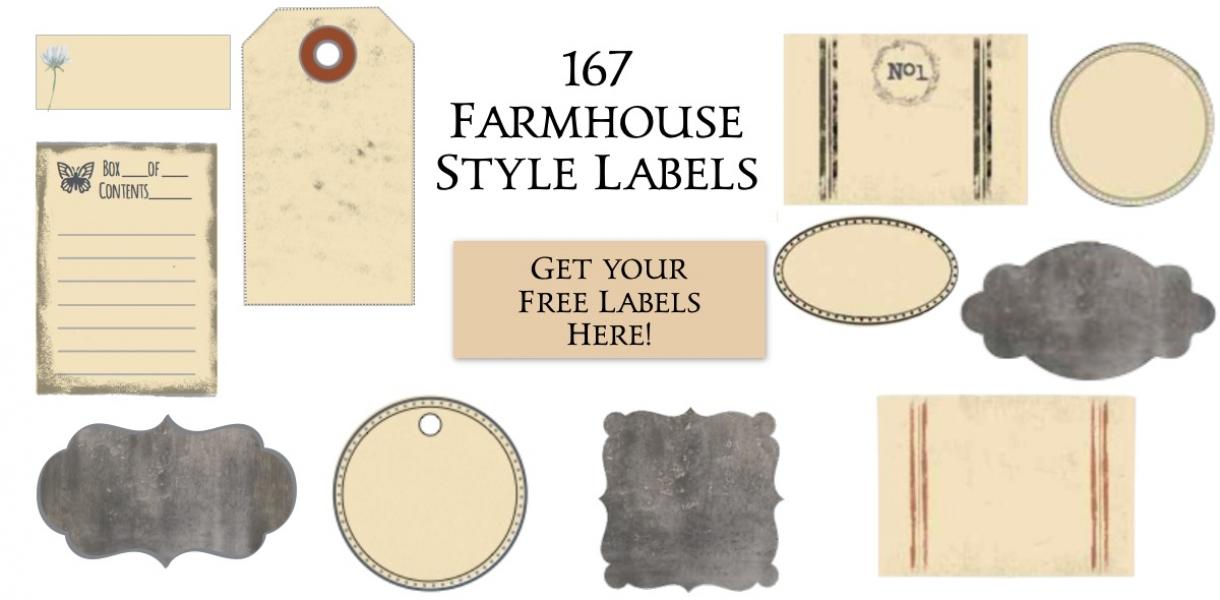 Cap Home Slider Farmhouse Labels