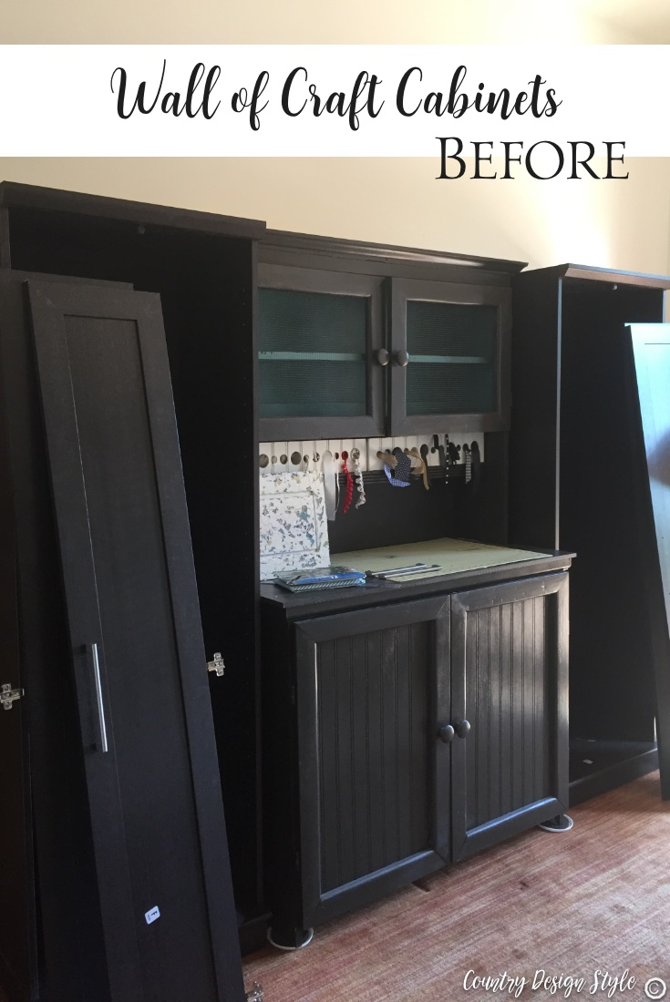 Craft cabinet wall before | Country Design Style | countrydesignstyle.com