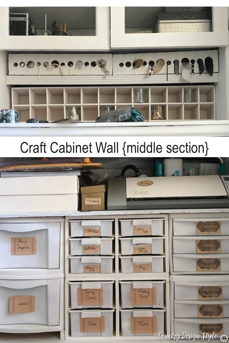 Craft cabinet wall middle | Country Design Style | countrydesignstyle.com