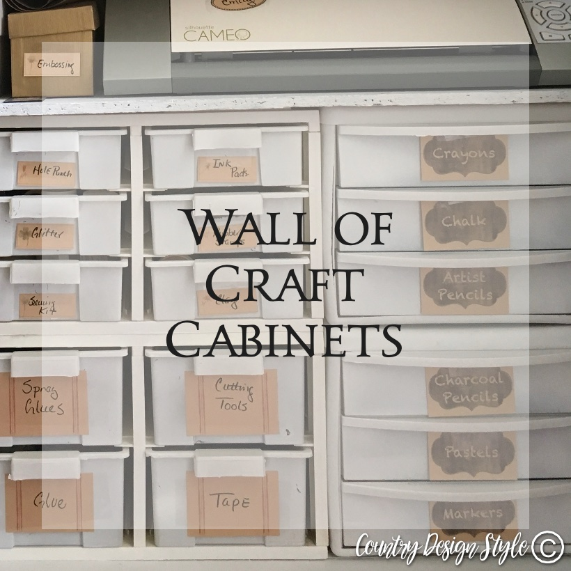 Craft cabinet wall sq | Country Design Style | countrydesignstyle.com