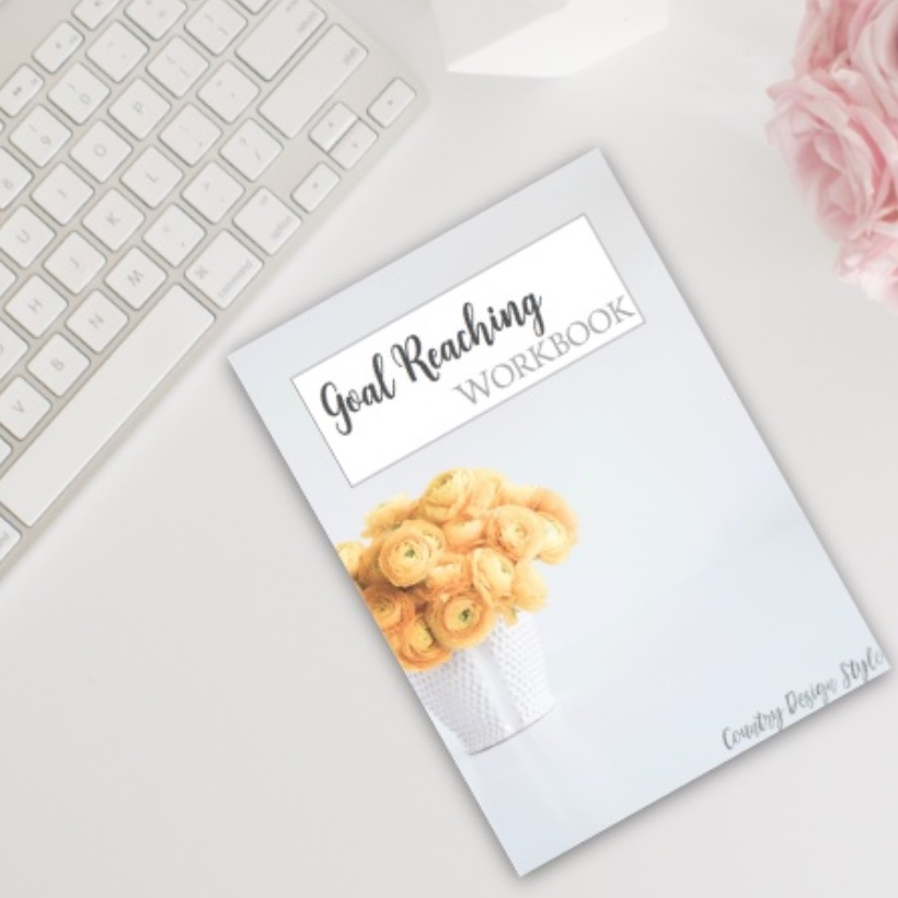 Goal Planner and Reaching Workbook sq | Country Design Style | countrydesignstyle.com