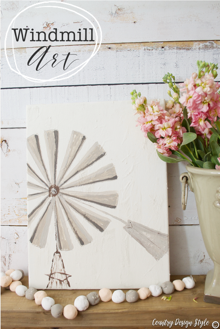 How to create this simple windmill art and craft paint storage | Country Design Style | countrydesignstyle.com