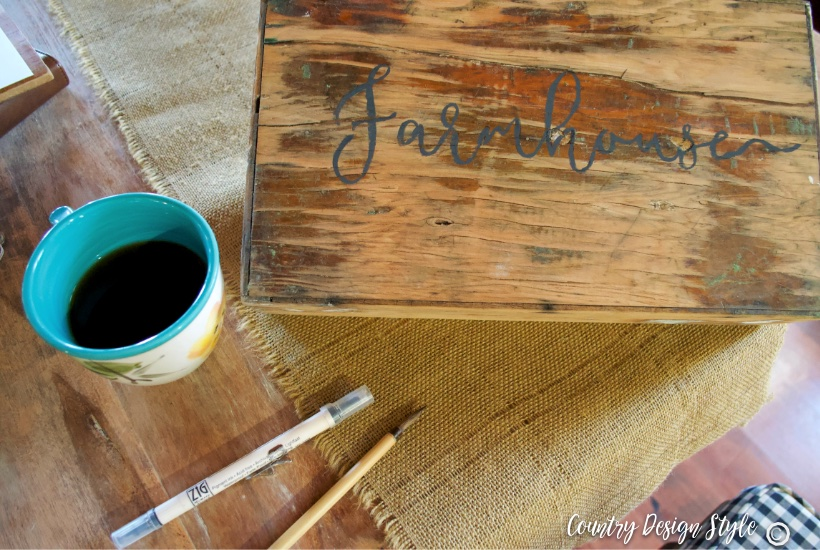 Lettered thrift store cheap wood crates | Country Design Style | countrydesignstyle.com