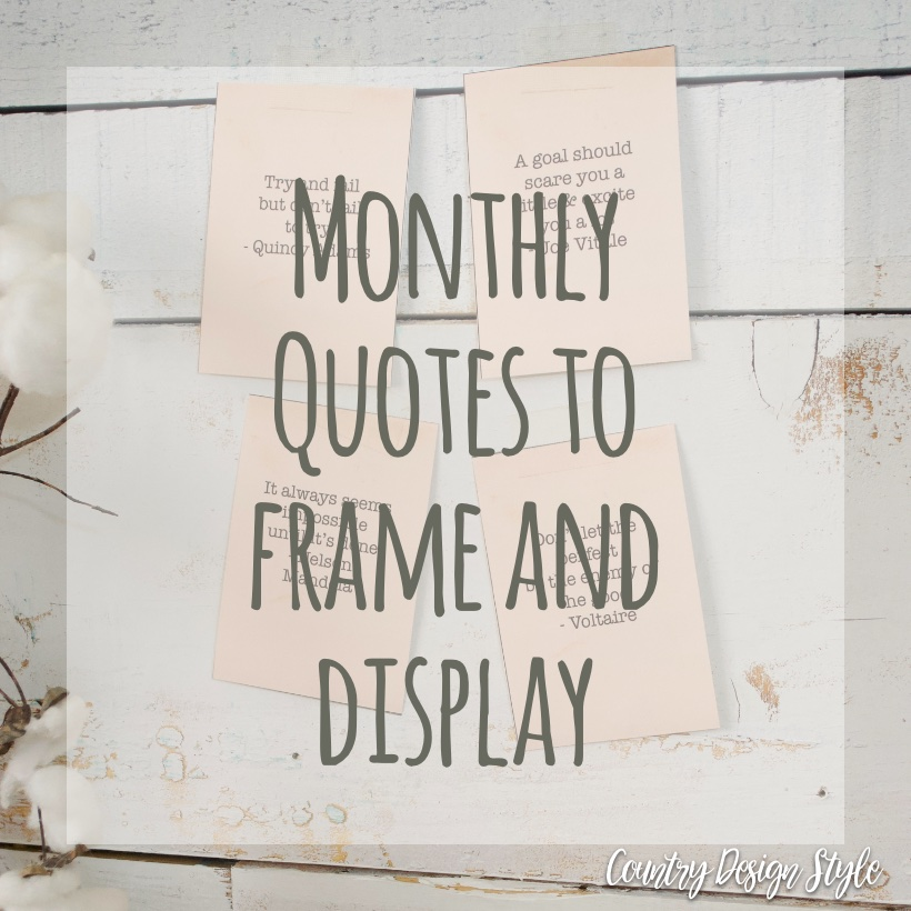 New Monthly Quotes sq | Country Design Style | countrydesignstyle.com