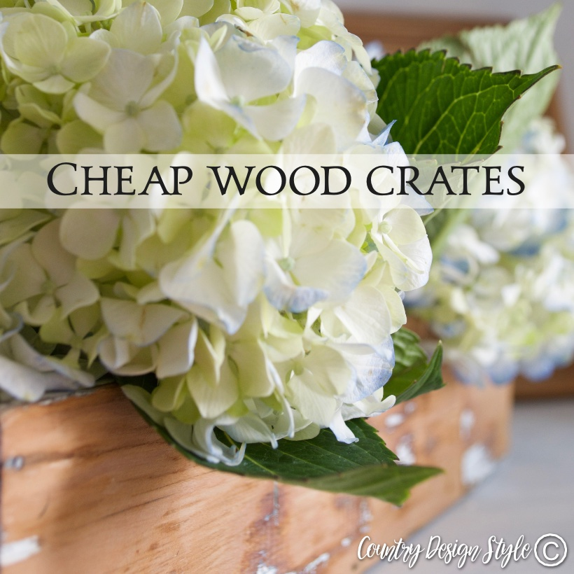 Thrift store cheap wood crates SQ | Country Design Style | countrydesignstyle.com