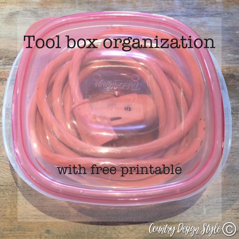 Tool box organization extension cords sq | Country Design Style | countrydesignstyle.com