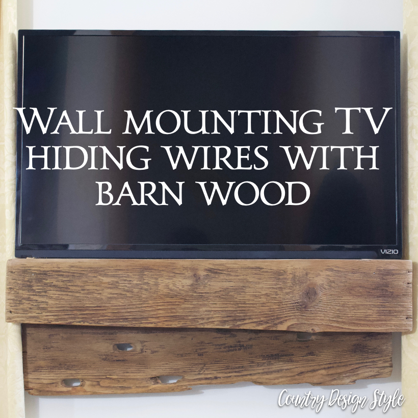 Wall mounting tv hiding wires sq | Country Design Style | countrydesignstyle.com