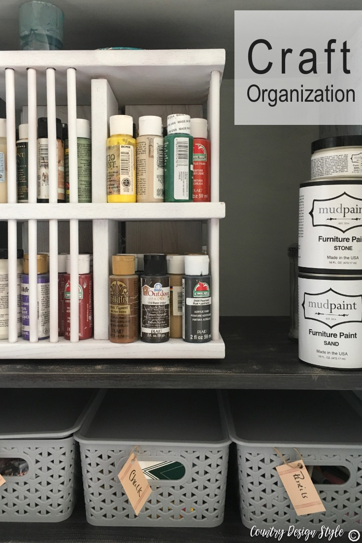 craft organization paints | Country Design Style | countrydesignstyle.com