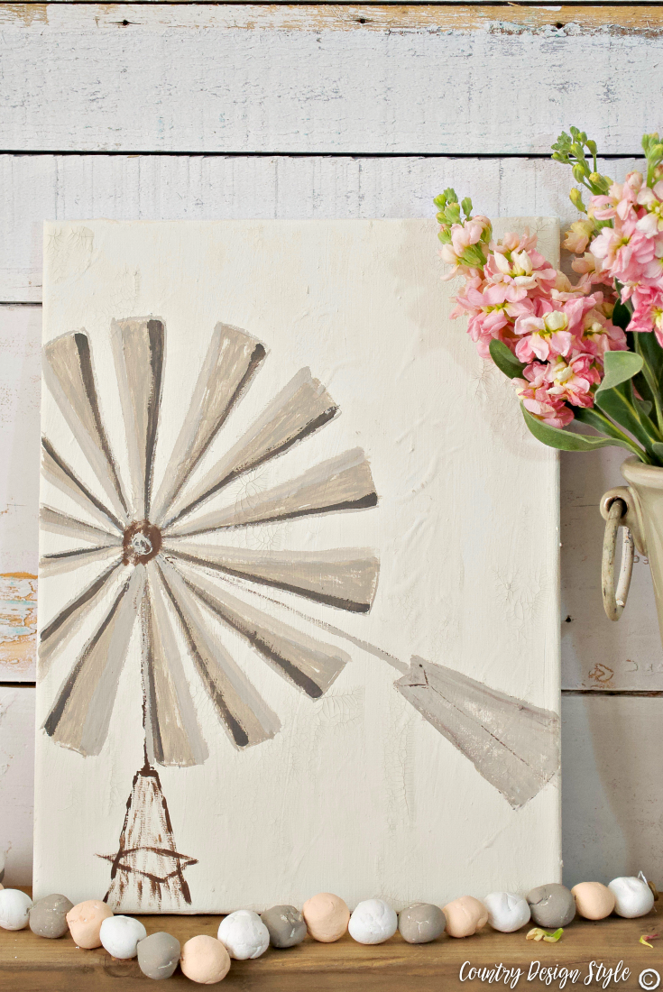 windmill art and craft paint storage idea | Country Design Style | countrydesignstyle.com