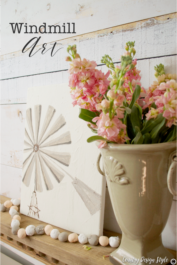 windmill art and simlest craft paint storage idea | Country Design Style | countrydesignstyle.com