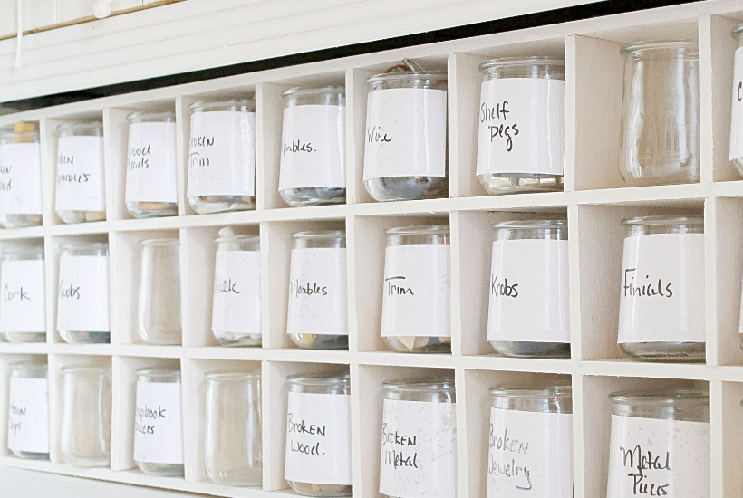 How to make cubbies for organization