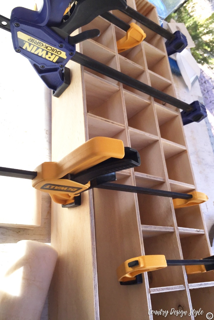 Making cubbies in a afternoon for craft room using clamps and wood glue
