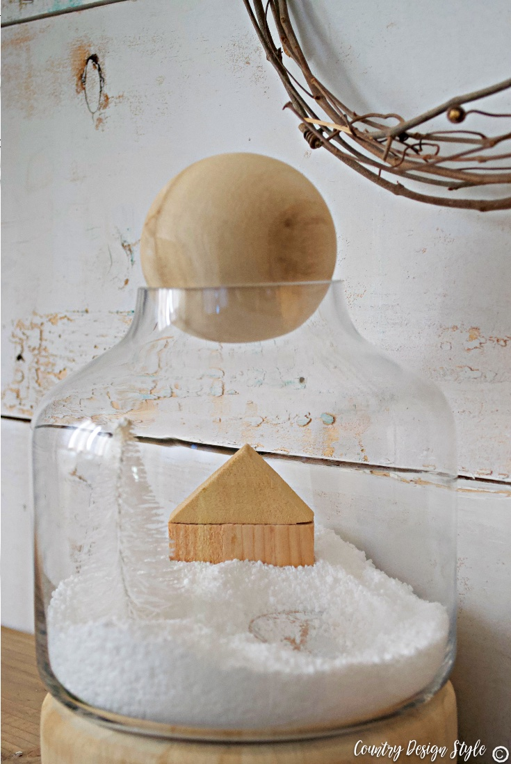 Winter scene in a jar
