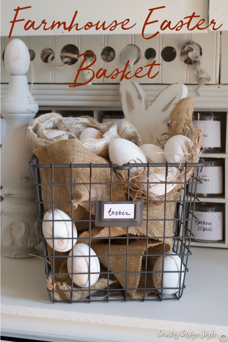 Easter display farmhouse style basket