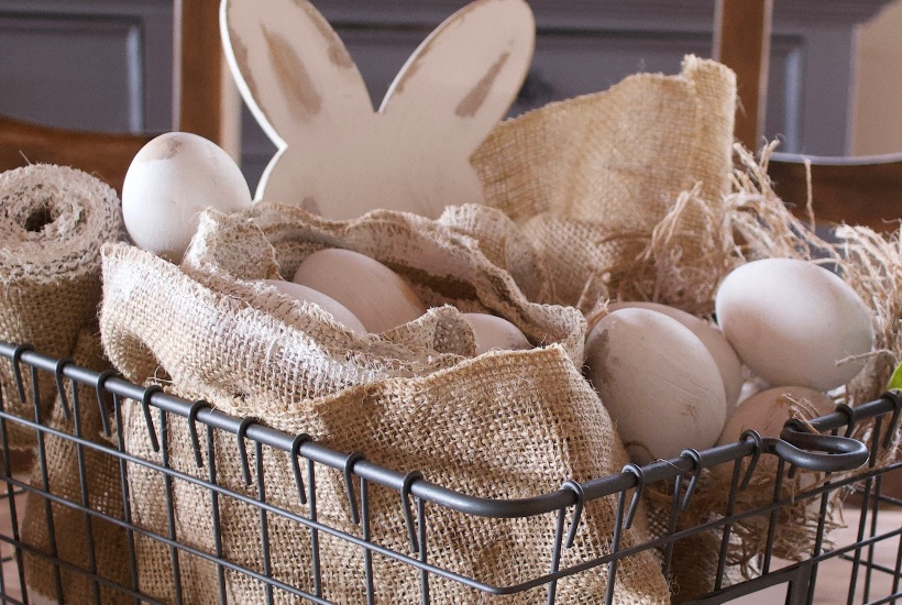 Easter display farmhouse style