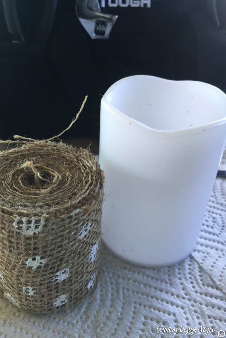 Easy update for a dollar store candle | Country Design Style | countrydesignstyle.com