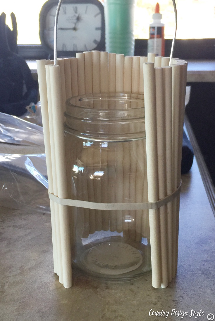 How to make a DIY Lantern from a mason jar