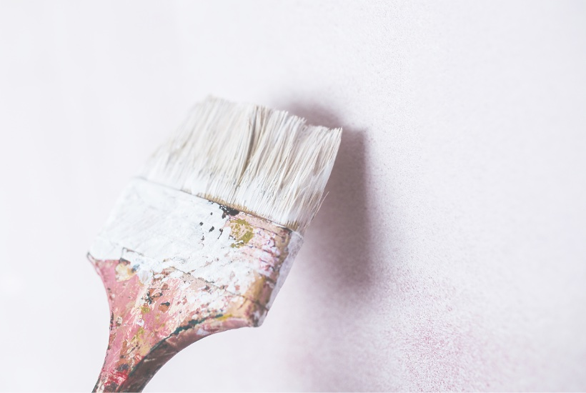 Painting and decorating with white