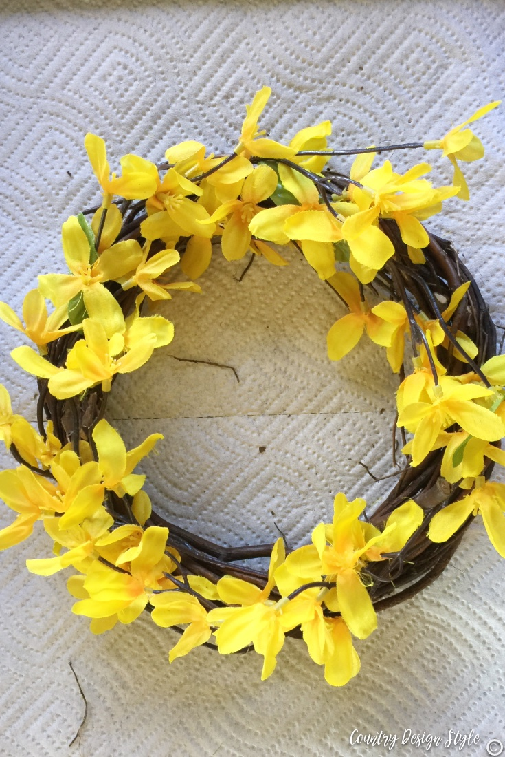 Spring wreath for front door fillin with small florals