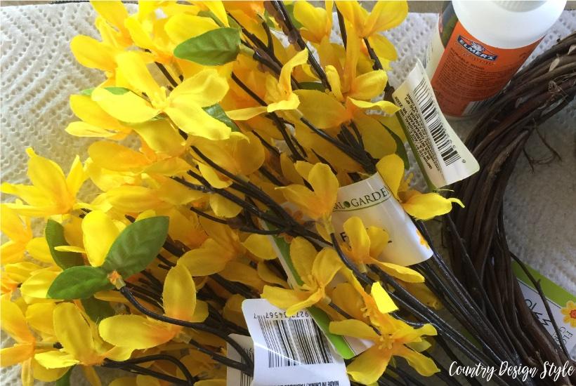 Spring wreath for front door supplies
