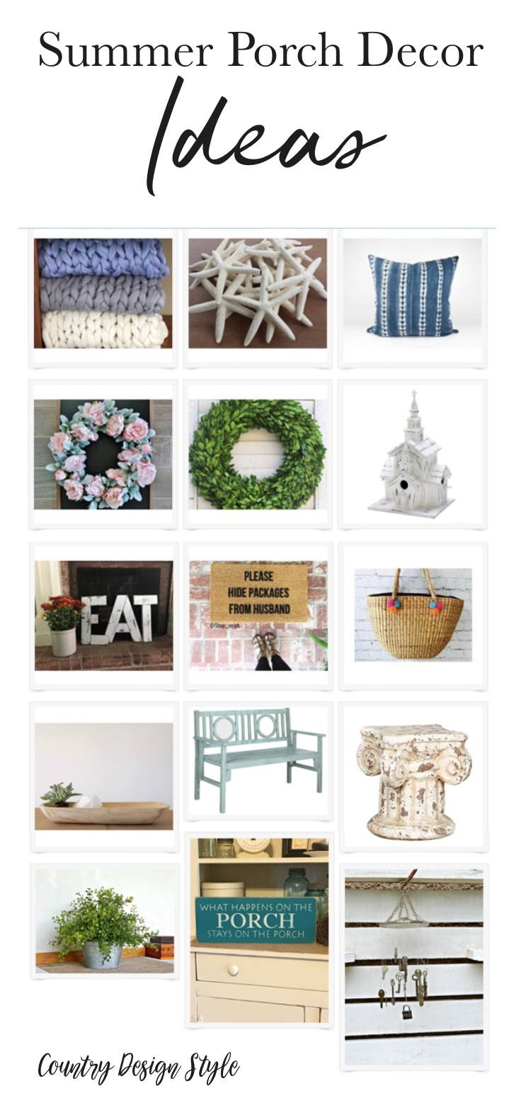 15 Summer Porch Decor Ideas to inexpensively add to your front porch