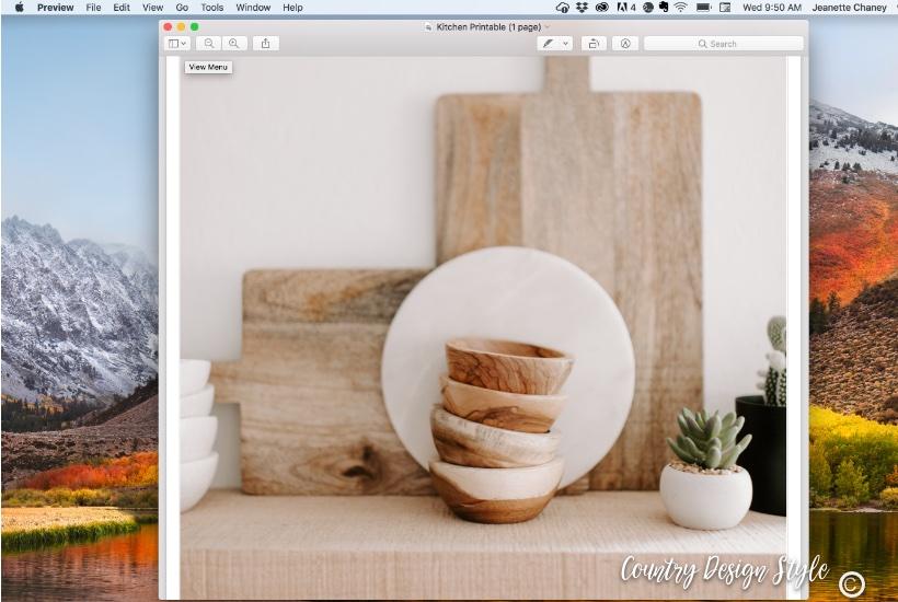 Kitchen Printable step one
