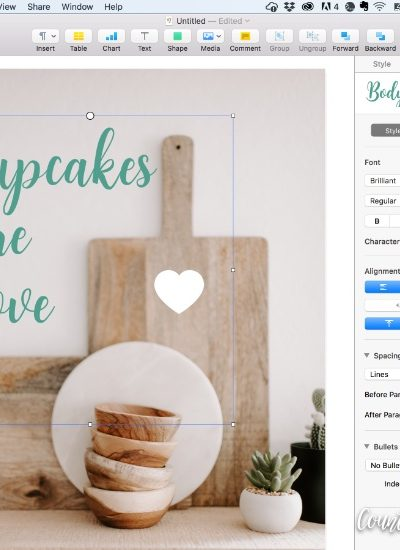 Kitchen Printable and instructions to add your own text