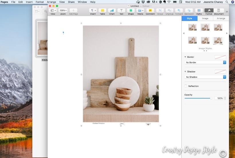 Kitchen Printable Step 3