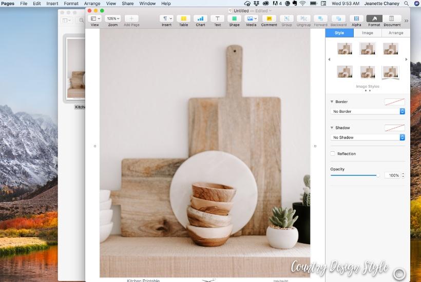 Kitchen Printable step 4