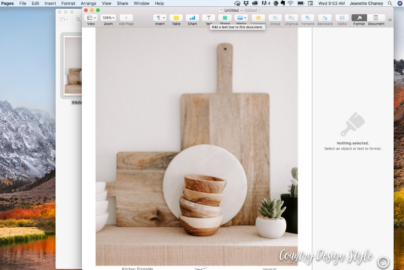 Kitchen Printable Step 5