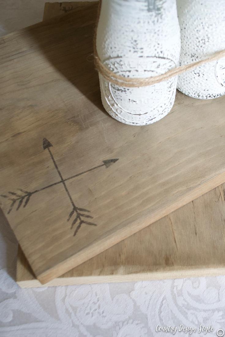 Rustic wedding centerpiece barn wood aged boards