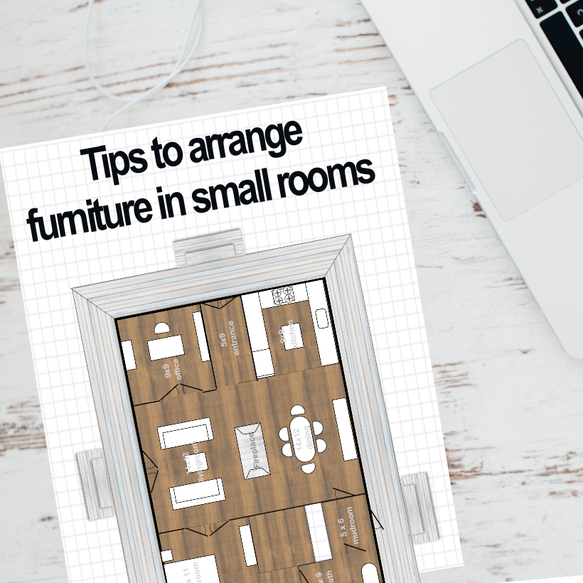 Arranging Furniture Tips for small house plans and rooms