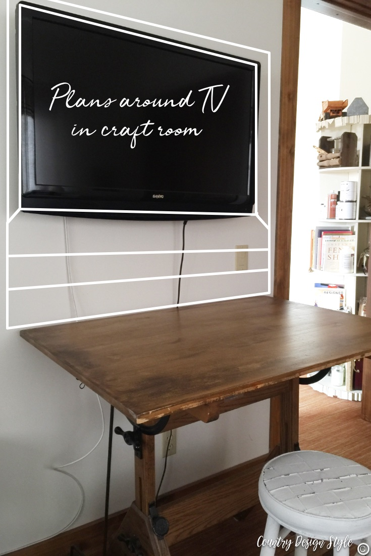 Craft room design for around the TV
