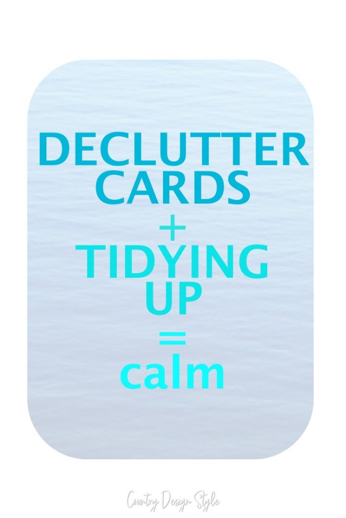 declutter cards | tidying up | organizing