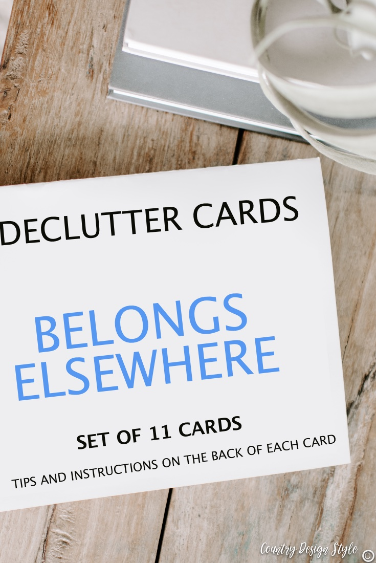 How to declutter using declutter cards to help sort your clutter.