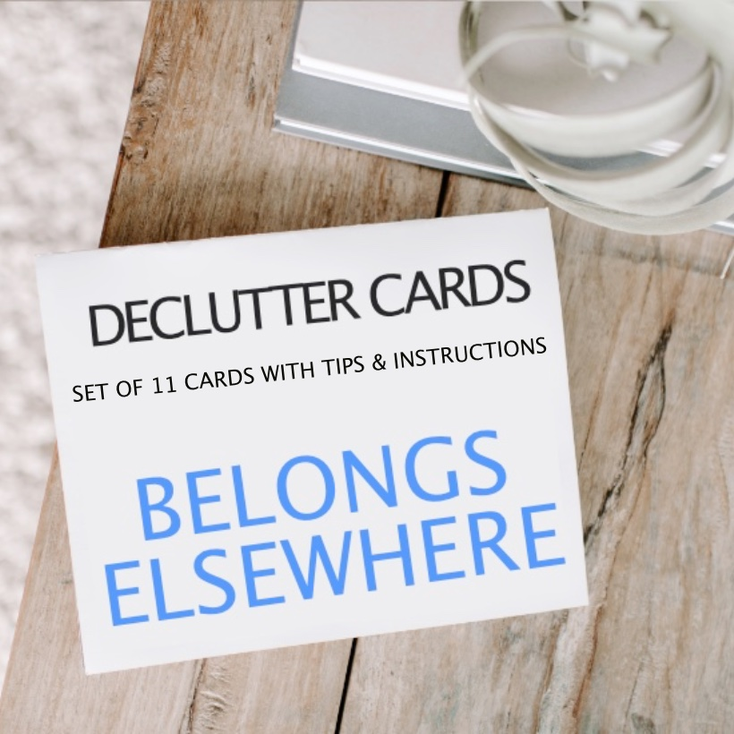 How to Declutter using the declutter cards