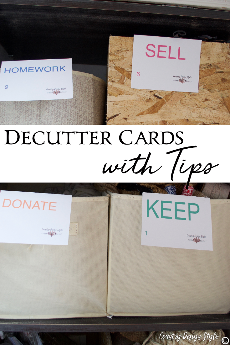 How to declutter using cards