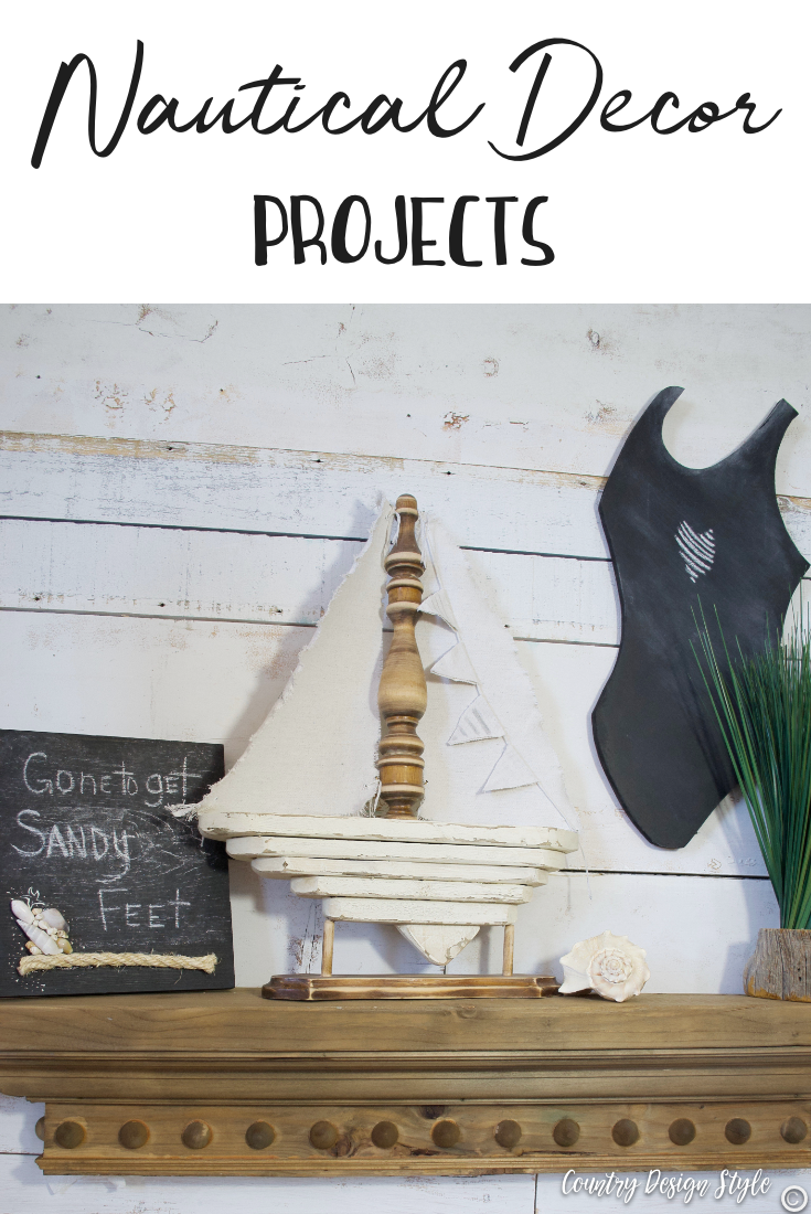 Nautical decorating with DIY projects