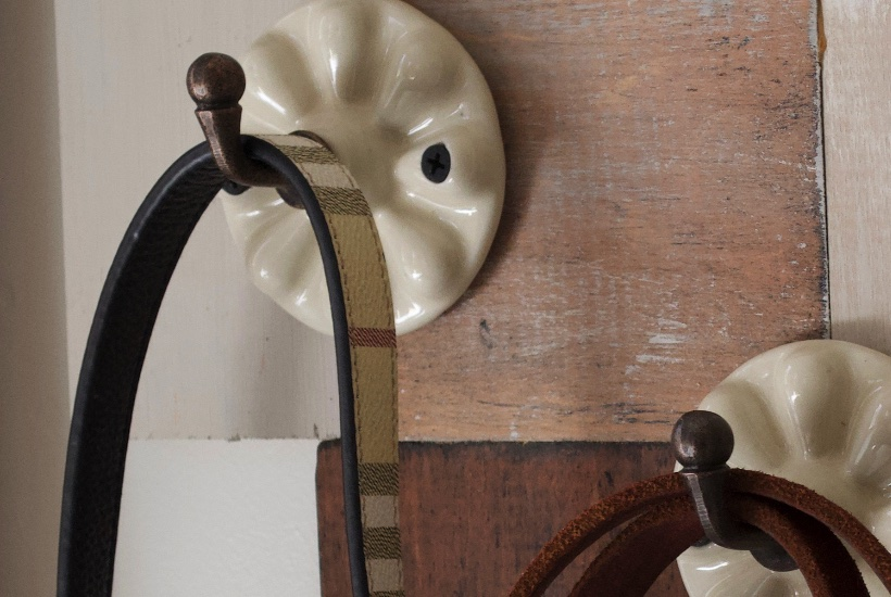 Decorative wall hooks closeup