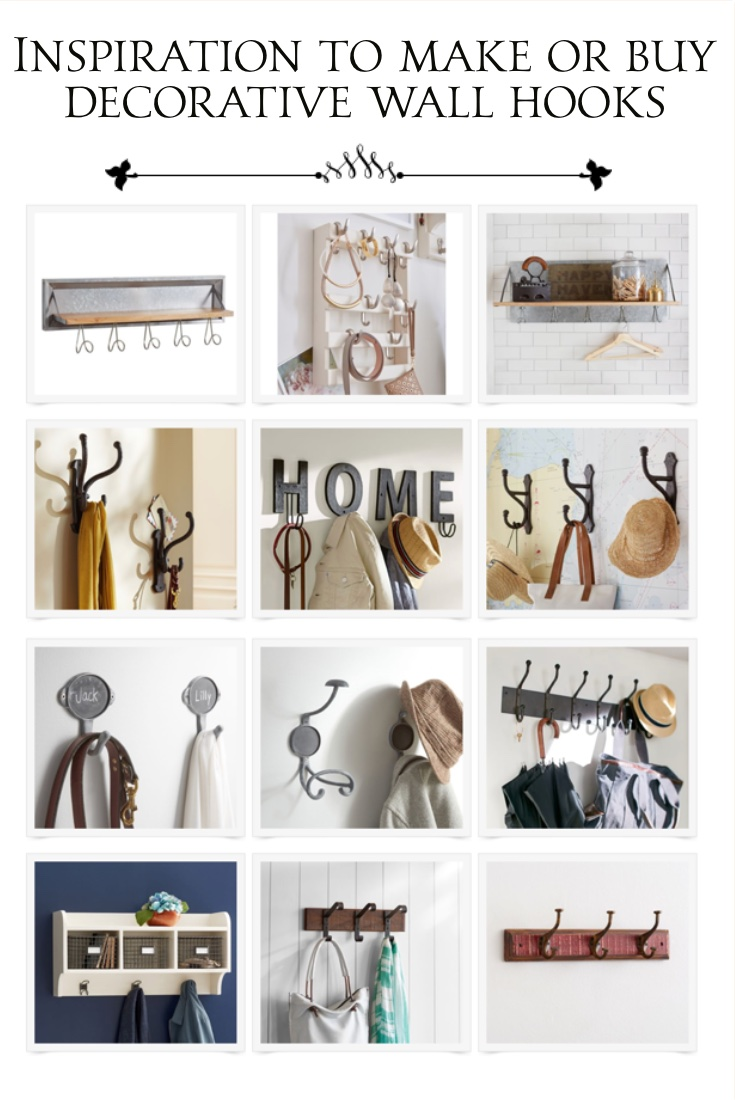 collection of decorative wall hooks