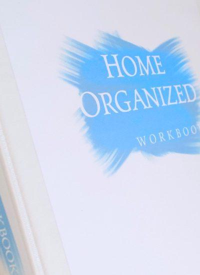 Home Organized Workbook