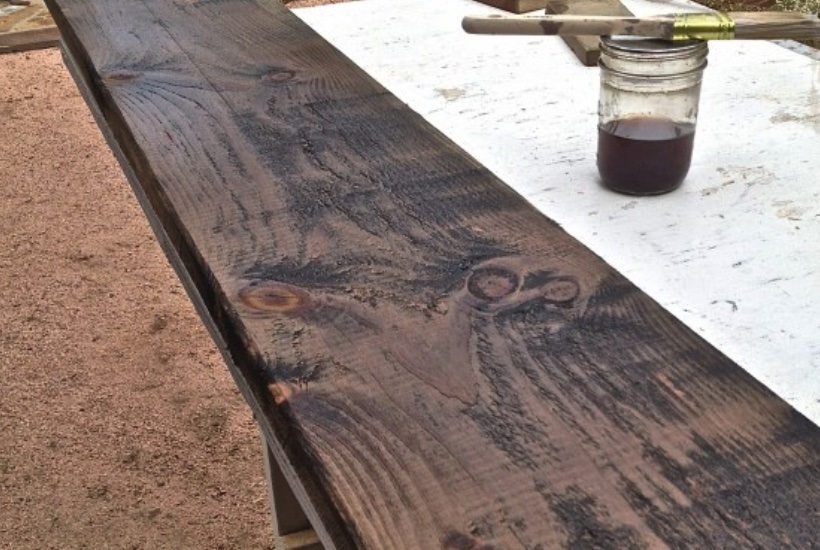 To Distress Wood No Hammer Involved, How To Distress Stained Furniture