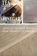 How to distress wood using different techniques.