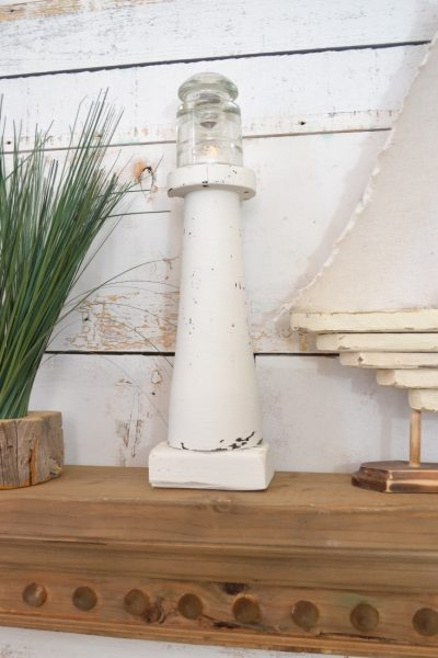 DIY Lighthouse made with a spindle