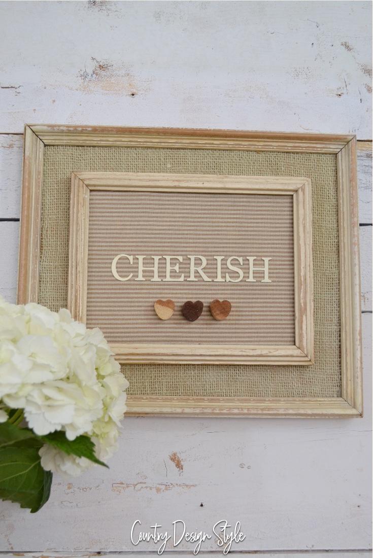 Thrift store frame design cherish
